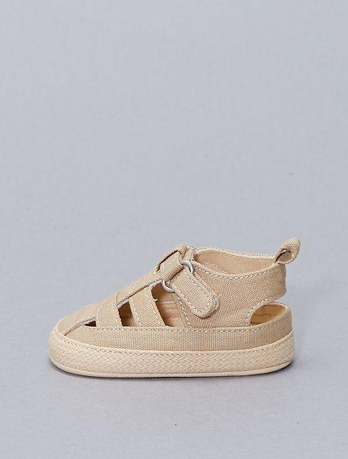 Sandales façon espadrilles                                         beige