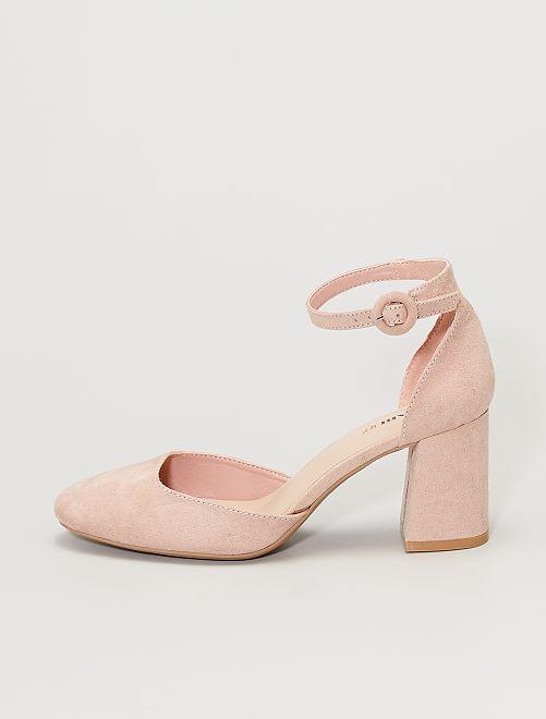 Sandales fermées à talons                                         rose
