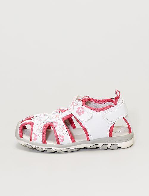 Sandales fermées                             blanc/rose