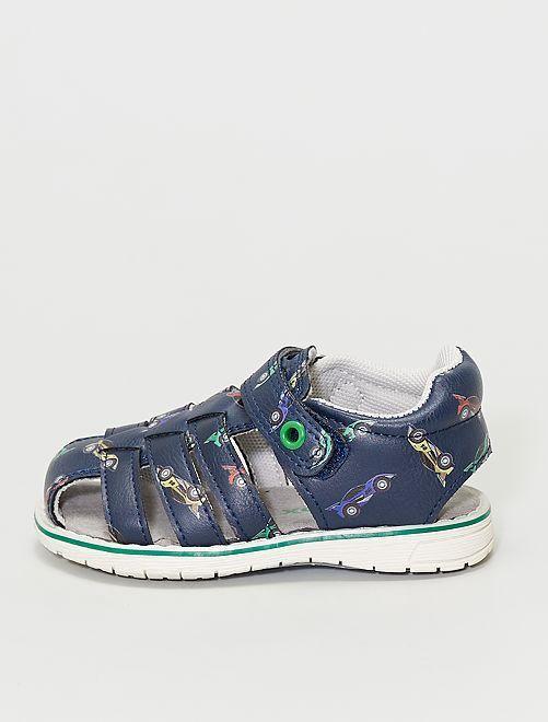Sandales fermées                             bleu navy