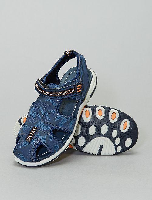 Sandales fermées camouflage                             bleu foncé