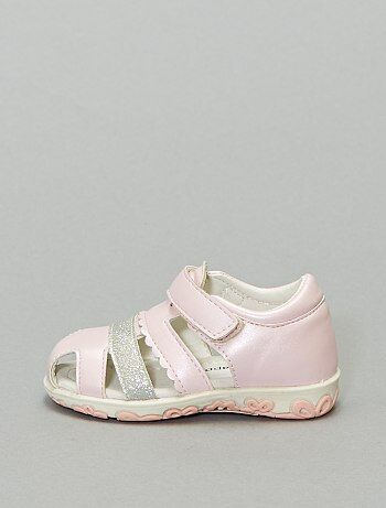 Sandales fermées irisées