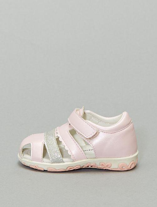 Sandales fermées irisées                             rose