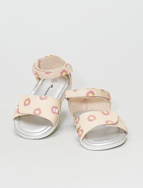 Sandales imprimées                             beige