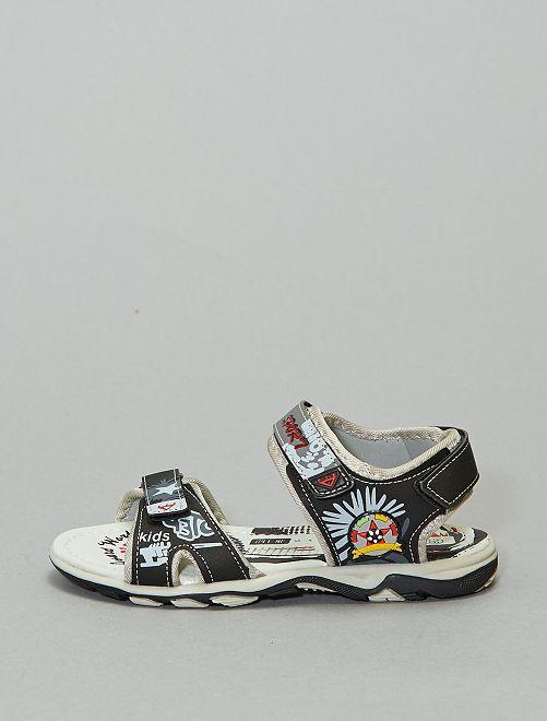 Sandales imprimées 'sport fashion'                             noir