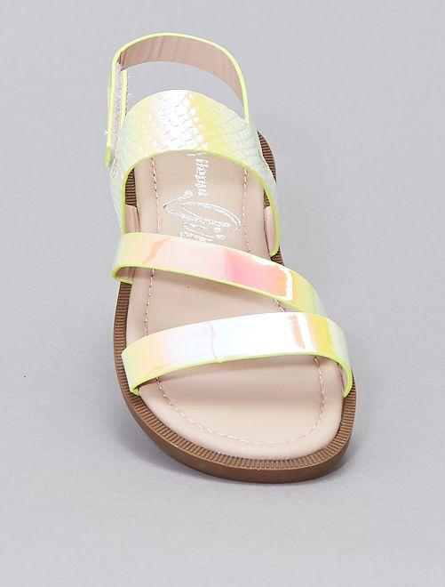 Sandales iridescentes                             jaune