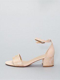 Sandales à talons - Sandales irisées à talons - Kiabi
