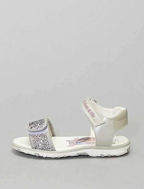 Sandales 'La Reine des Neiges' pailletées                             gris