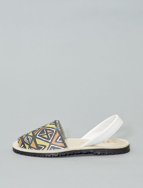 Sandales menorquinas en cuir imprimées                             imprimé
