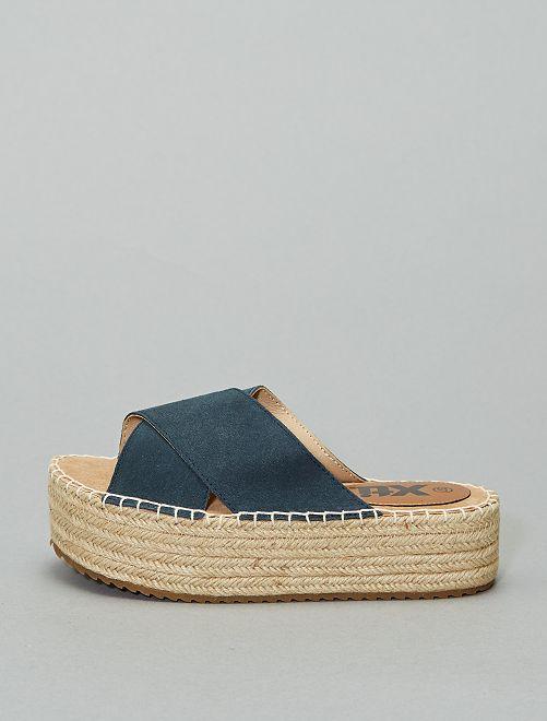 Sandales mules en cuir 'Xti'                                                                 bleu navy