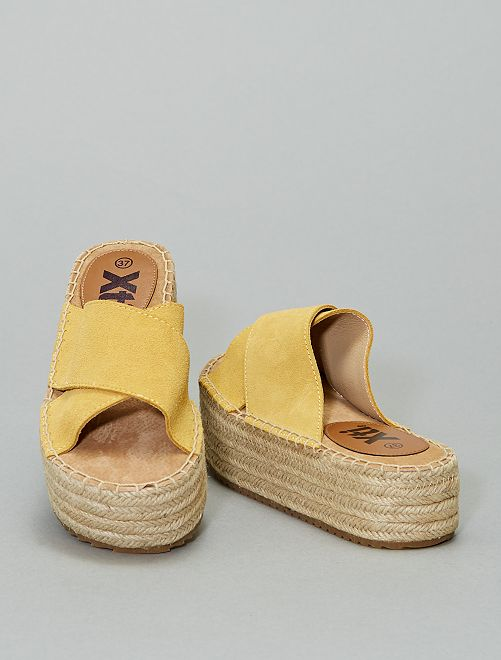 Sandales mules en cuir 'Xti'                                                                 jaune