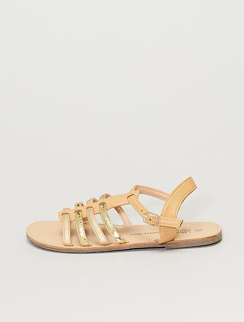 Sandales multibrides                             camel/doré