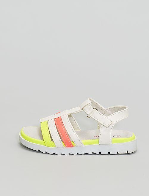 Sandales multicolores                             beige