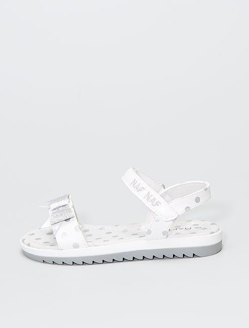 Sandales 'Naf Naf'                             blanc