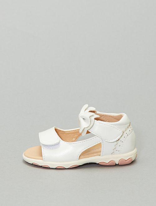 Sandales nœud                             blanc