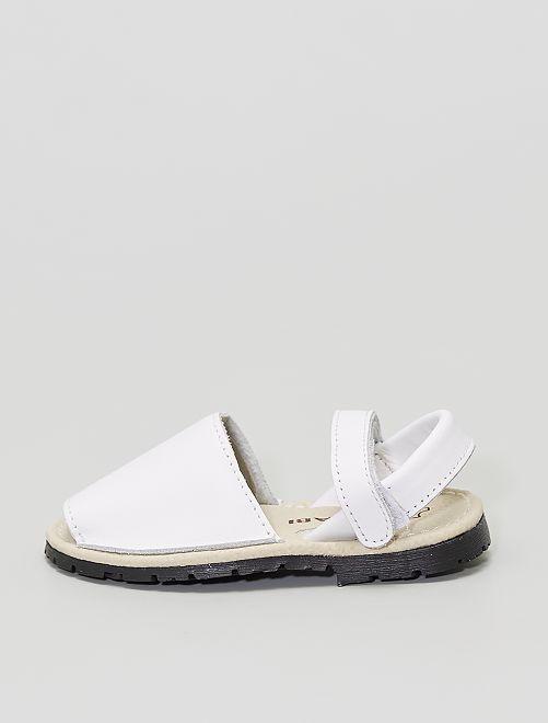 Sandales ouvertes                             blanc