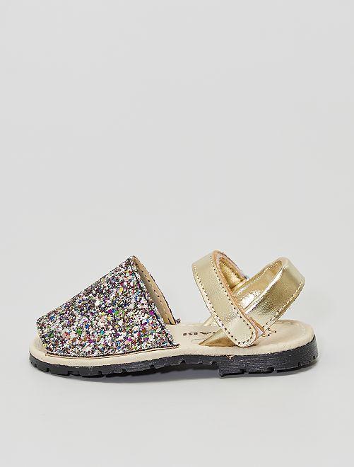 Sandales ouvertes                             doré