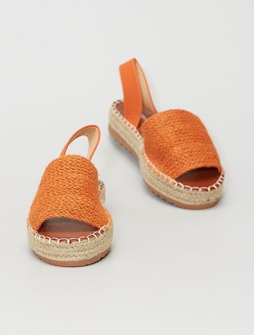 Sandales ouvertes                             orange