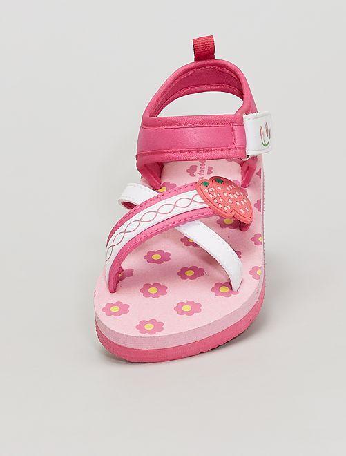 Sandales ouvertes                             rose