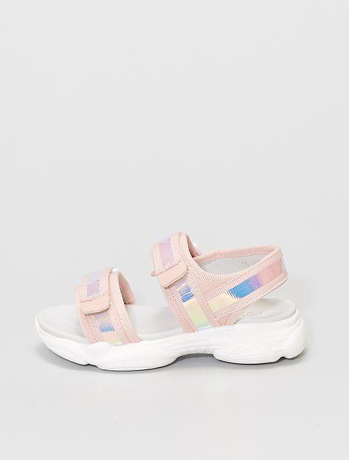 Sandales ouvertes semelles sport                             rose