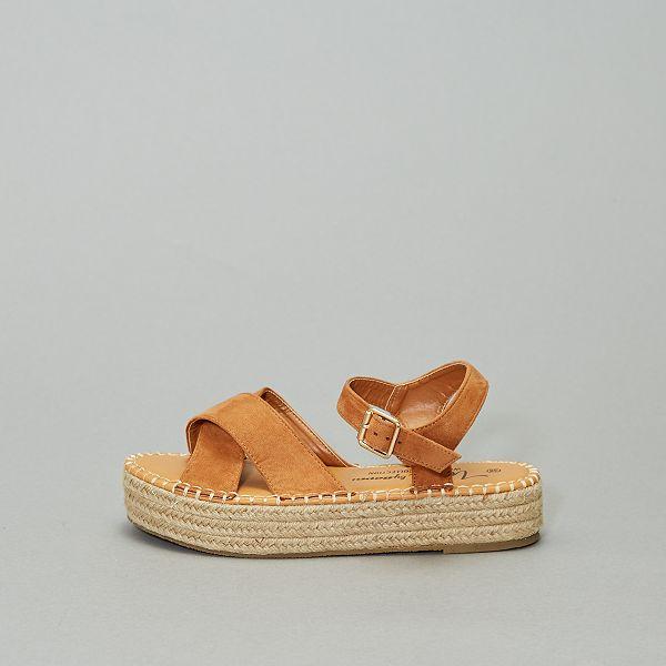 Sandales plateforme en simili