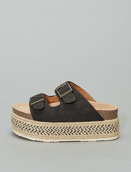 Sandales plateforme 'Xti'                                         noir