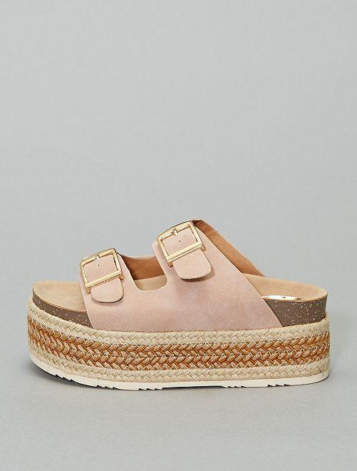 Sandales plateforme 'Xti'                                         rose