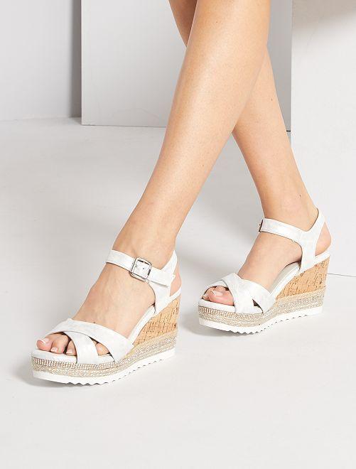 Sandales plateformes                             argent