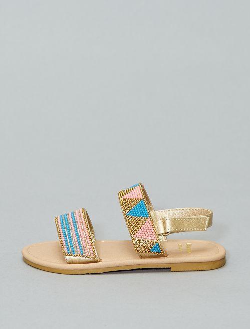 Sandales plates                             BEIGE Fille