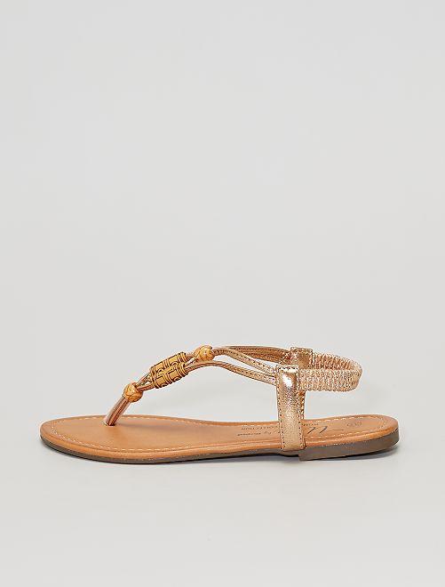 Sandales plates cuivrées                                         cuivré