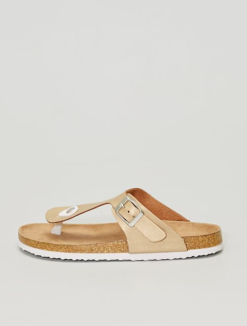 Sandales plates                                                     doré