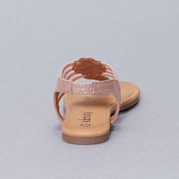 Sandales plates en simili Fille rose Kiabi 15,00€