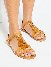 Sandales plates Femme | taille 43 | Kiabi