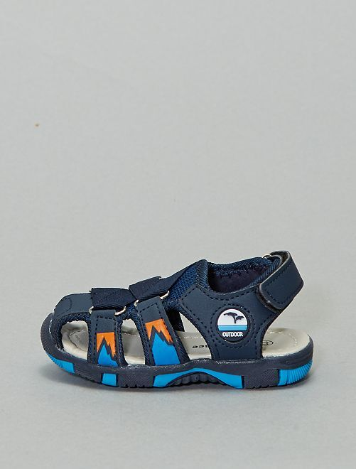 Sandales plates fermées                             bleu navy