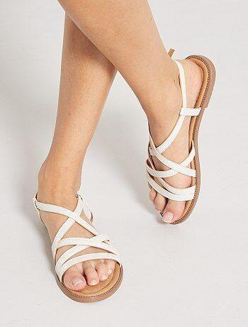 Sandales plates multi brides