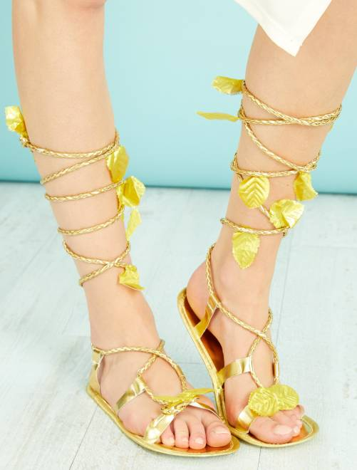 Sandales romaine                             doré