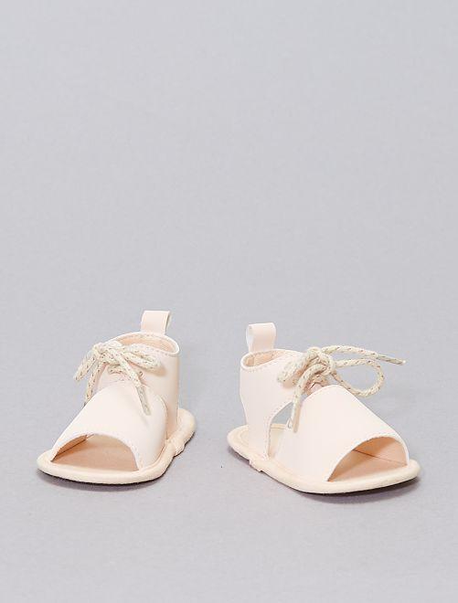 Sandales souples en simili                             Beige