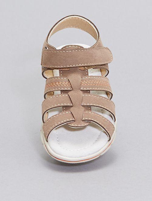 Sandales spartiate                             marron clair