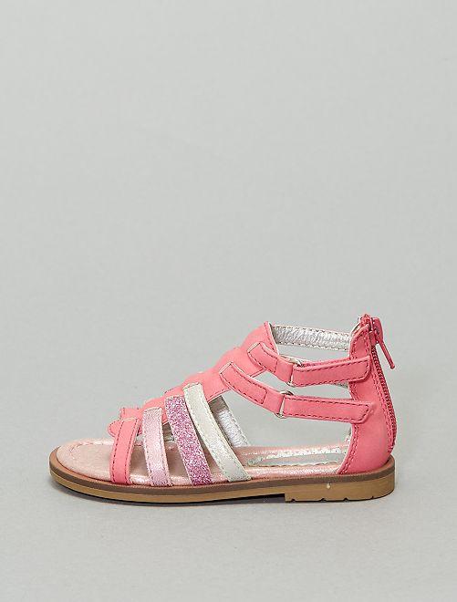 Sandales spartiates                             rose