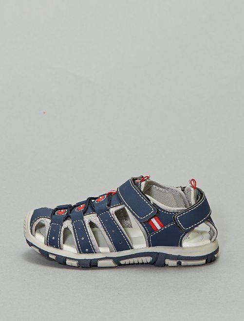 Sandales sport à scratch                                         bleu navy