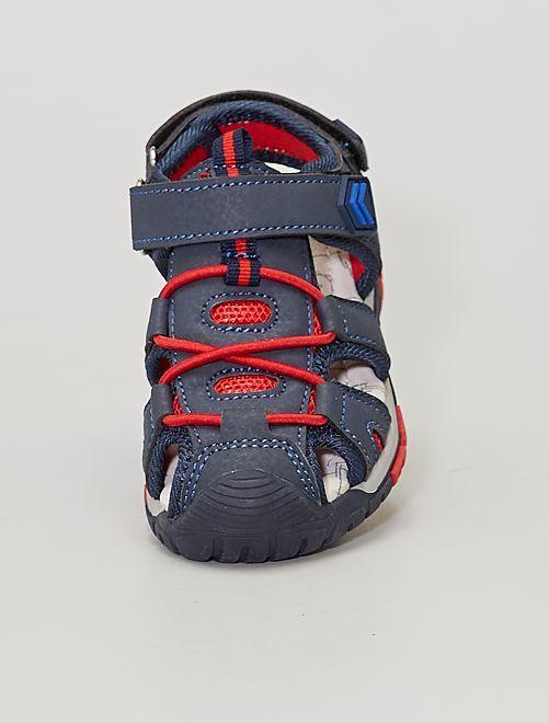 Sandales sport à scratchs                             BLEU