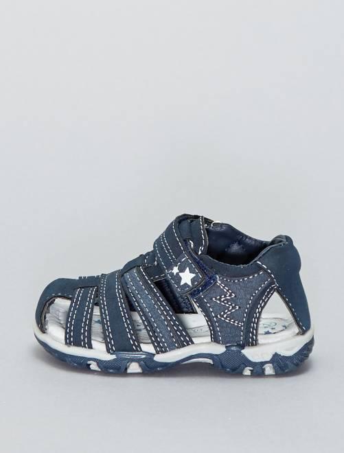 Sandales sport à scratchs                             bleu navy Bébé garçon