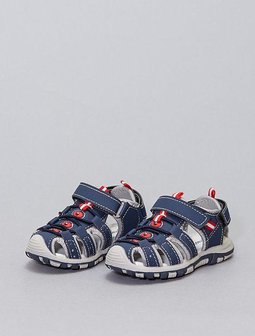Sandales sport à scratchs                             bleu navy