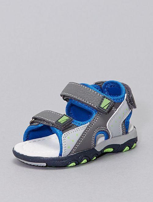 Sandales sport ouvertes 'Beppi'                             bleu/gris