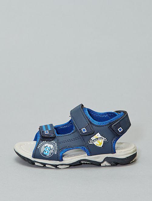 Sandales sports à scratchs                             bleu navy
