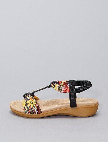 Sandales strass et fleurs
