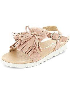 Chaussures fille - Sandales style spartiates - Kiabi