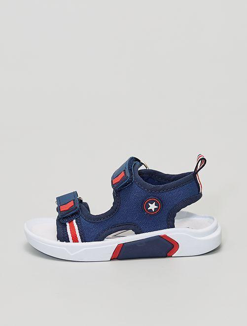 Sandales type sport                             bleu