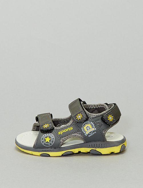 Sandales type sport imprimées                             gris