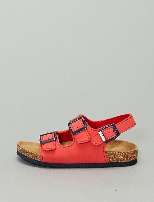Sandales unies                                                     rouge
